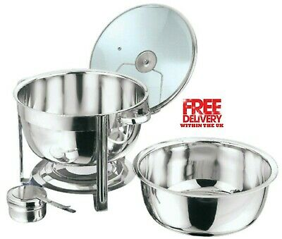 £39.99 • Buy Round 8.5 Litre Chafing Dish With Glass Lid/BUFFET DISH/PARTY FOOD WARMER