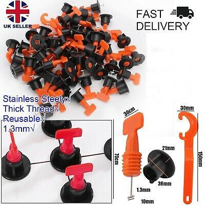 £9.99 • Buy 160pcs Floor Wall Tile Leveler Tools Reusable Tile Spacers Levelling System