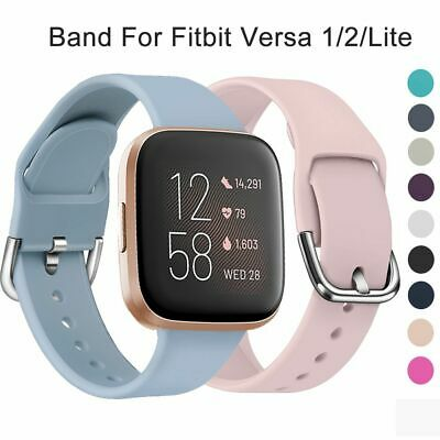 $ CDN4.62 • Buy Replacement Strap Soft Silicone Watch Band Bracelet For Fitbit Versa 2 1 Lite