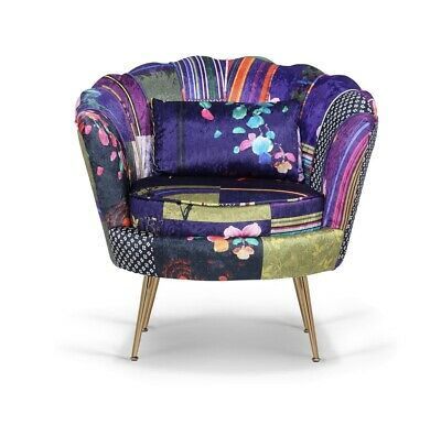 £239 • Buy 1 Seater Patchwork Scallop Sofa Chair