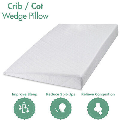 £12.99 • Buy Universal Baby Crib Wedge Pillow With Removable Waterproof Quilted Cover For Cri