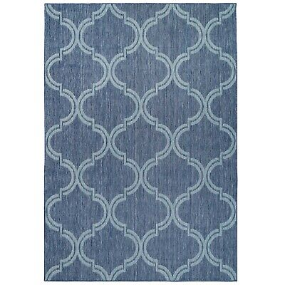 £29.95 • Buy Blue Modern Outdoor Rug Large Small Garden Summer Mat Plastic Washable Patio Rug