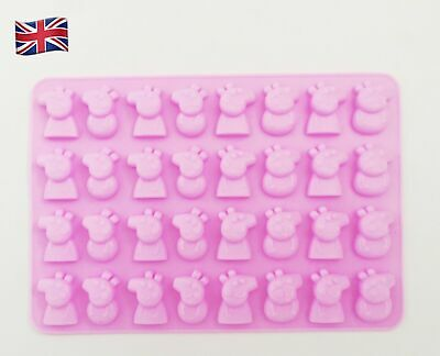 £3.75 • Buy Silicone Mould Peppa Pig Style Shapes Chocolate, Jellies, Ice Cube Cake Decor