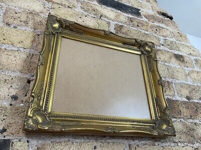 £32 • Buy Vintage Rococo Baroque Gold Gilt & Gesso Detail Picture Frame With Glass & Board