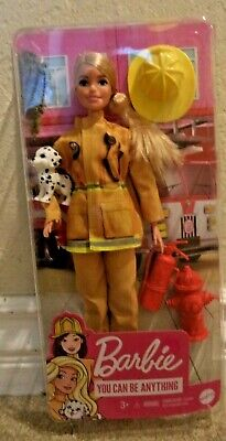 $22.50 • Buy Barbie Careers Firefighter Doll Blonde W/ Puppy & Accessories *new*