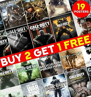 £9.65 • Buy Call Of Duty Game Posters Print Video Game Poster Art Wall Home Room Decor ED009