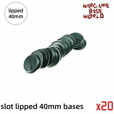 $14.99 • Buy 40mm Slot Lipped Bases Table Games For War Machine