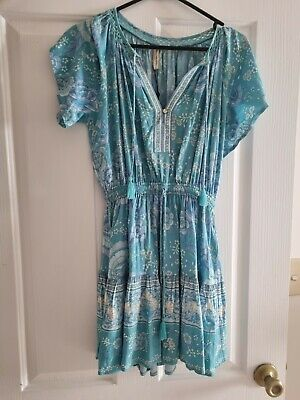 AU200 • Buy Spell And The Gypsy Mystic Dress In Blue Size XS