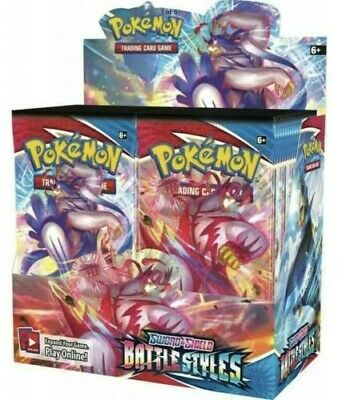 AU189 • Buy POKEMON TCG Sword And Shield Battle Styles Booster Box   36 Boosters NEW SEALED