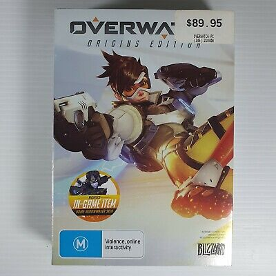 AU18.99 • Buy Overwatch Origins Edition PC Game - USED Good Condition Includes Notepad & Cards