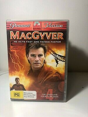 $6.81 • Buy DVD - MacGyver: The Complete Season 4 / Series Four - FREE POST #P1