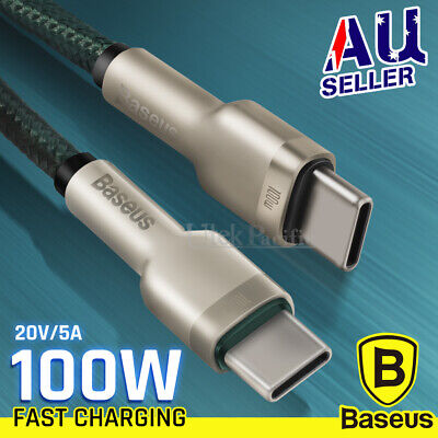AU11.99 • Buy BASEUS 100W USB-C To Type-C Fast Charge Cable For Samsung S21 Ultra Macbook Pro