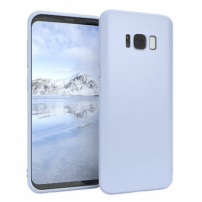 $ CDN6.18 • Buy For Samsung Galaxy S8 Cover Silicone Cover Protection Bag Slim Matte Light Blue