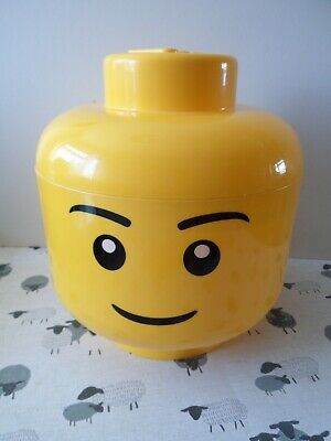 £17.99 • Buy Large Official LEGO YELLOW STORAGE HEAD BOX TUB CONTAINER Genuine BOY VGC