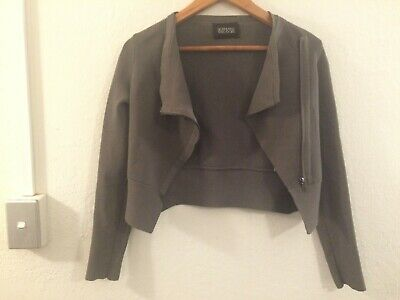 AU30 • Buy SCANLAN & THEODORE Cropped Crepe Jacket Beige Size Small
