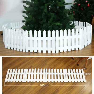 £12.89 • Buy Wooden Picket Fence Garden Fencing Lawn Edging Christmas Xmas Tree Fence Decor