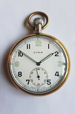 Fully Serviced Vintage Cyma WWII Military Pocket Watch. • 100£