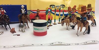 £7.13 • Buy New 38 Pc Western Horse Show Jockey Toys Set Horse Accessories Kids Toys Play