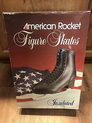 $32 • Buy American Rocket Figure Skates Mens Black Style 552 Size 13 - New With Box