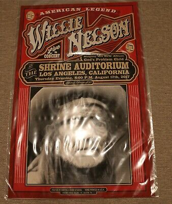$750 • Buy POSTER CONCERT - Willie Nelson Limited Edition Shrine Auditorium Los Angeles