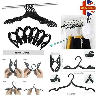 £0.99 • Buy Outdoor Foldable Hanger Clothes Trouser SocksTravel Portable Clothes Uk  🇬🇧