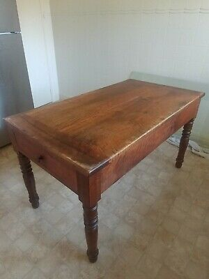 AU850 • Buy Antique Walnut Timber Kitchen Dining Table