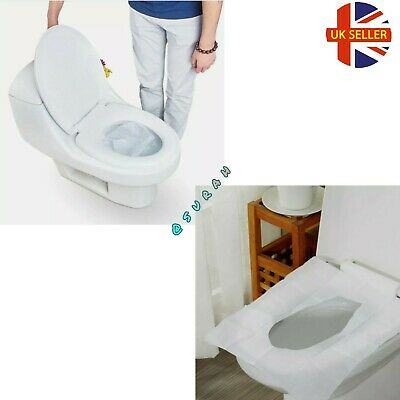 £2.99 • Buy Disposable Hygienic Flashable Toilet Seat Covers Travel Plastic Mat Travel Pack