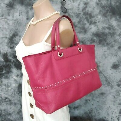 AU62.30 • Buy Oroton Genuine Leather Rose Pink Tote Handbag Ladies