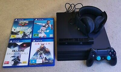 AU450 • Buy Sony PS4 Pro 1TB Console + Controller + Headset + Camera + Games. Sony Bundle