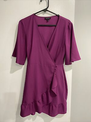AU15 • Buy ASOS Wrap Dress Sz 10