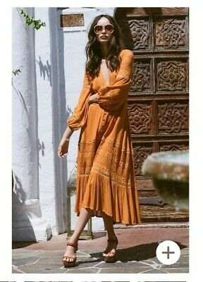 AU250 • Buy Spell And The Gypsy Olivia Lux Lace Midi Dress - Size Small