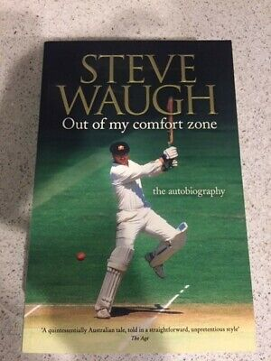 AU21 • Buy Steve Waugh - Signed - Autobiography Sc Book - Out Of My Comfort Zone