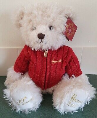 Harrods 2015 30th Anniversary Teddy Bear With Dust Bag, With Tags  • 28£