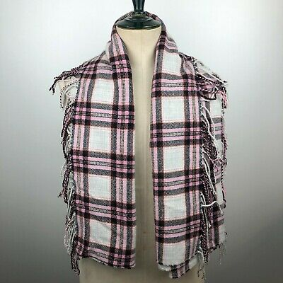 £20 • Buy Jack Wills Multi Coloured Throw Blanket Tassel Edged Square 58 X 58 Inches