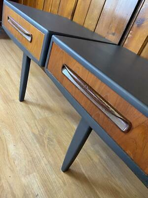 £425 • Buy G PLAN \ Bedside Tables \ Painted Charcoal \ Floating \ Mid Century \ Teak