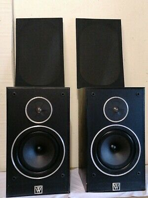 AU129.21 • Buy WHARFEDALE 505.2 BLACK BOOKSHELF SPEAKERS 100W 8ohm