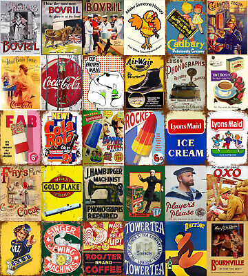 £4.99 • Buy Multi-Listing Advertising Vintage Retro Style Metal Plaques Signs Posters