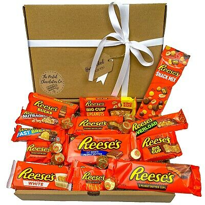 £7.99 • Buy Reeses American Chocolate Hamper Box Gift Personalised Present Peanut Butter Cup