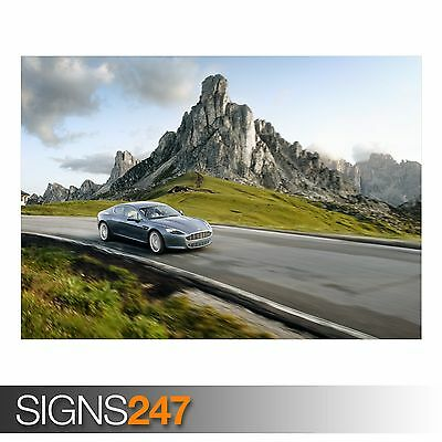£1.49 • Buy ASTON MARTIN ON THE ROAD (AA183) CAR POSTER - Photo Poster Print Art * All Sizes