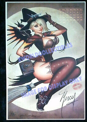 AU38.60 • Buy OVERWATCH MERCY ART PRINT ~ SIGNED NATHAN SZERDY 12x18