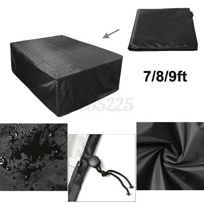 AU57.12 • Buy 7/8/9ft Polyester Dust-proof Fabric Outdoor Pool Snooker Billiard Table Cover