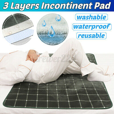 Washable Reusable Waterproof Underpad Bed Pad Incontinence Mattress Protector UK • 12.37£