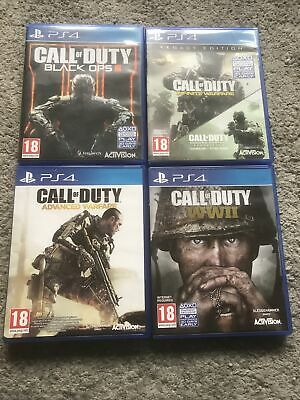 Call Of Duty Ps4 Bundle Black Ops3 WW2 Infinite Warfare Legacy Edition Advanced  • 20£