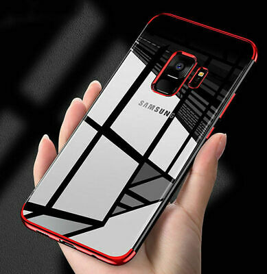 $ CDN3.86 • Buy Luxury Slim Shockproof Silicone Clear Case Cover Samsung Galaxy S7 S8 S9 Note