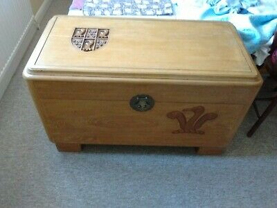 Vintage Chinese Carved Teak Blanket Chest Lined With Camphor Wood • 50£