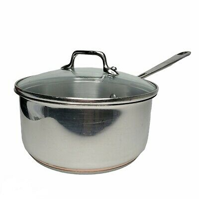 $ CDN75.52 • Buy Emeril By All Clad 2qt 2 Quart Sauce Pan With Lid Stainless Copper Core