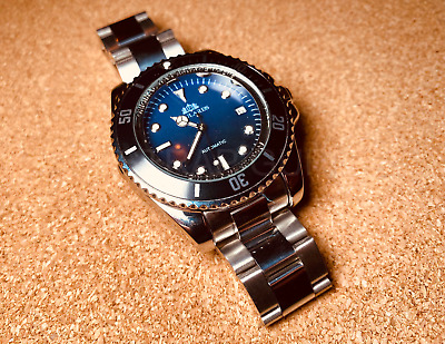 £40 • Buy Black Automatic Auto Movement Sea Homage Dweller Steel Watch Submariner Sub