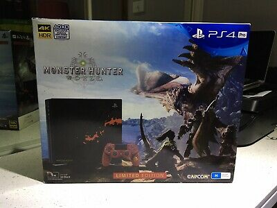 AU350 • Buy PS4 Pro Monster Hunter Limited Edition Console, Read Description.