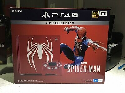 AU305 • Buy PS4 Pro Spider-Man Limited Edition Console, Read Description. (1)