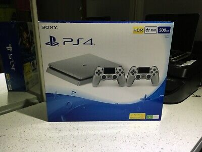 AU265 • Buy PS4 Silver 500gb Twin Controller Edition BNIB.
